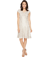 Tahari by ASL - Wrap Bodice Stretch Lace Dress