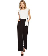 Tahari by ASL - Pebble Crepe Color Block Jumpsuit