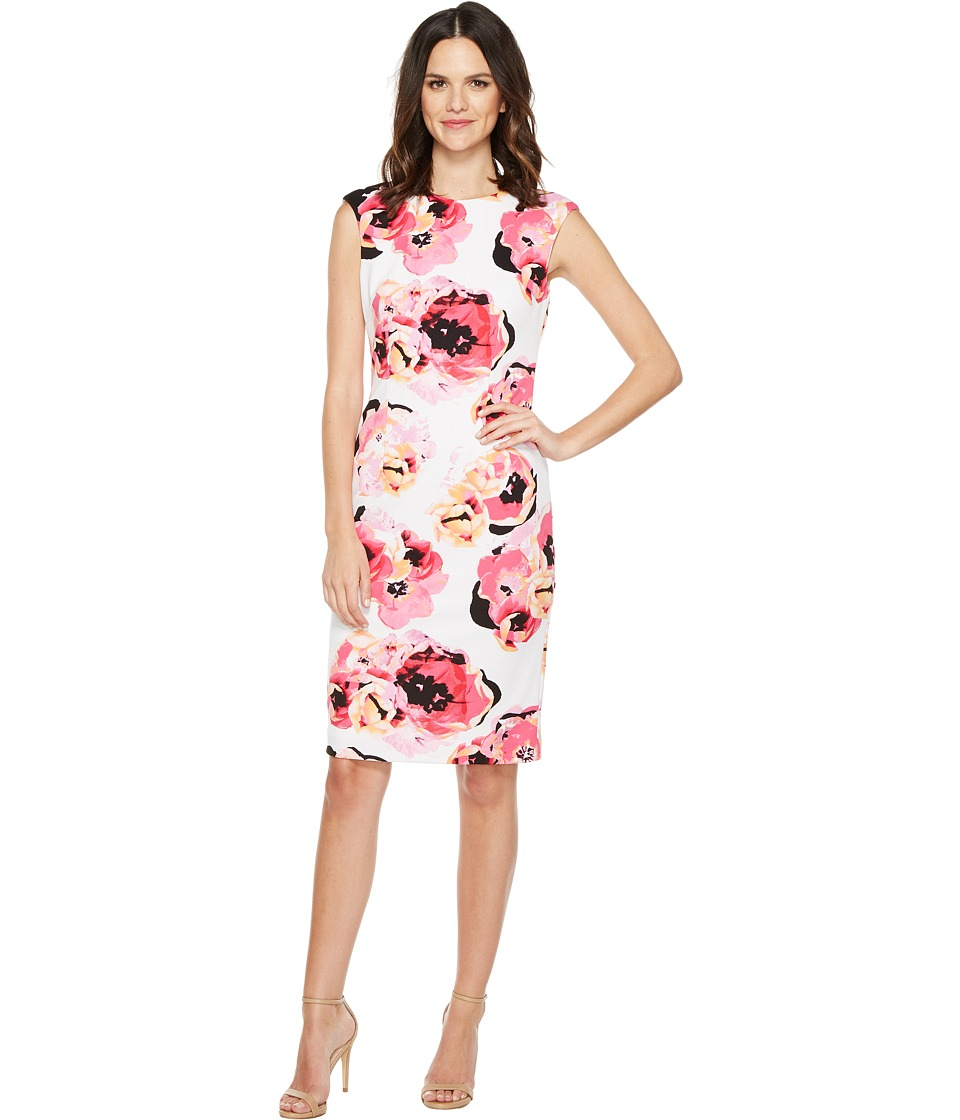 Tahari by ASL Tahari by ASL - Pique Floral Sheath Dress