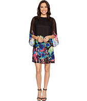 Tahari by ASL - Tulip Sleeve Floral Print Chiffon Shift Dress