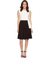 Tahari by ASL - Textured Crepe Tie Side A-Line Dress