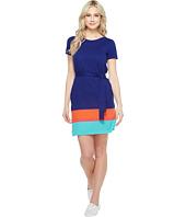 Lacoste - Short Sleeve Pique Color Block T-Shirt Dress