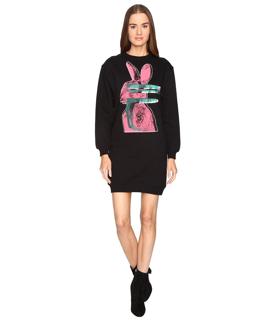McQ Classic Sweater Bunny Print (Darkest Black) Women