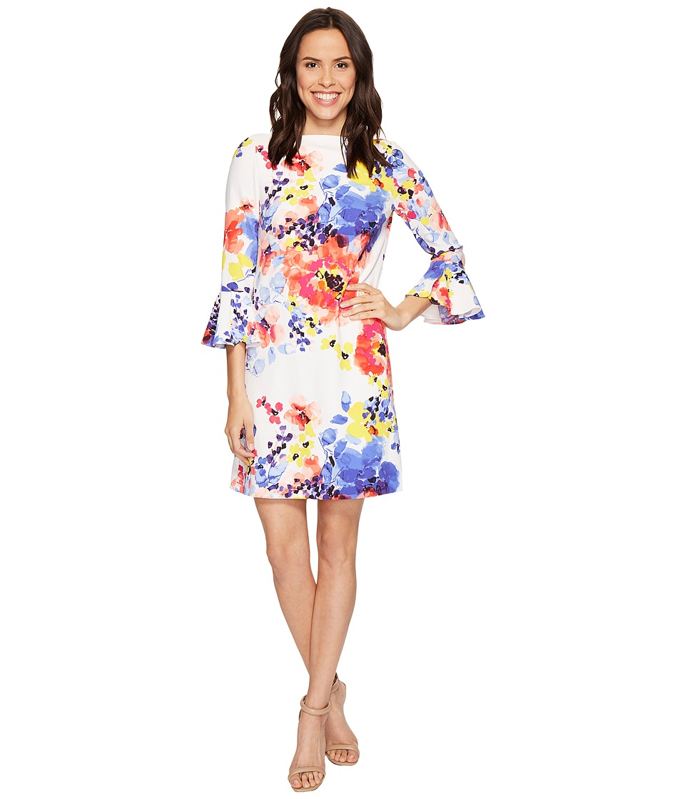 Tahari by ASL - Bell Sleeve Floral Shift Dress