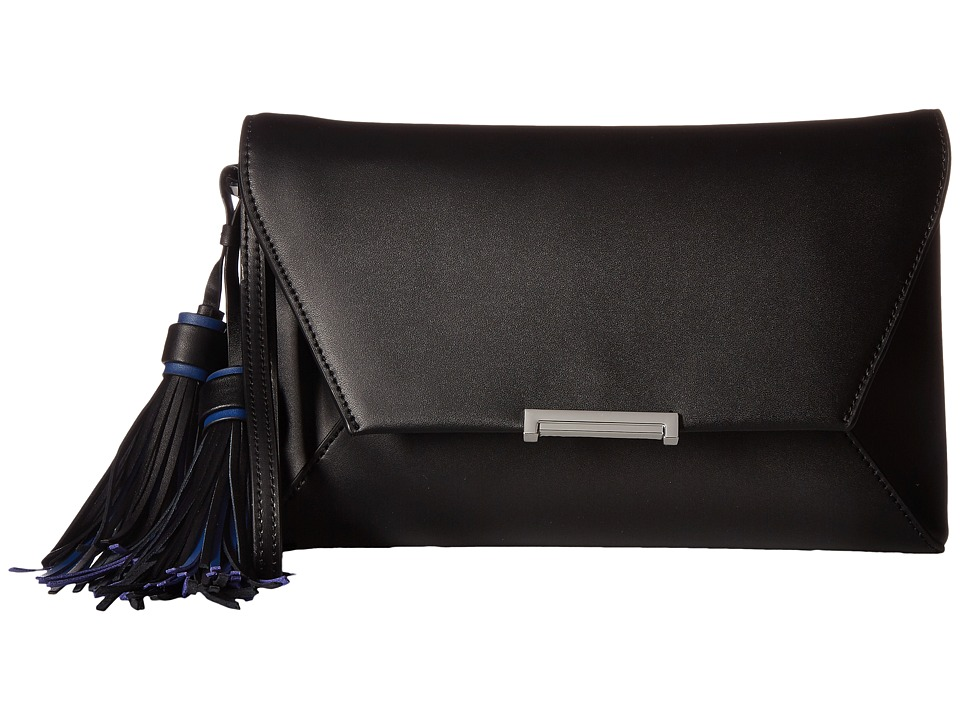 Ivanka Trump Mara Envelope Clutch (Black Core/Tassles) Clutch Handbags