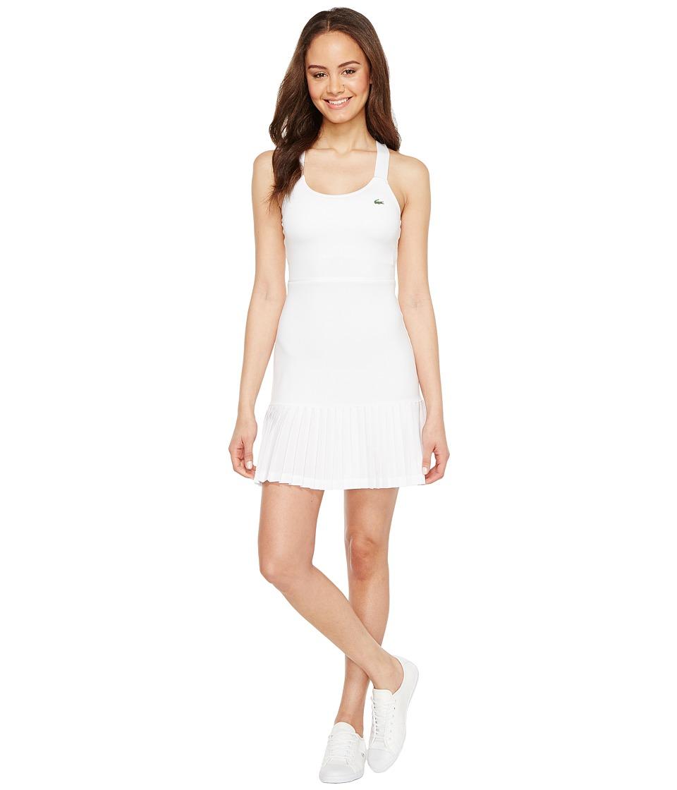 Lacoste SPORT Australian Open Tennis Dress (White/Navy Blue) Women
