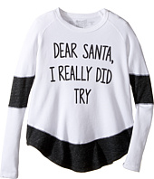 The Original Retro Brand Kids - Dear Santa I Really Did Try Contrast Thermal (Big Kids)