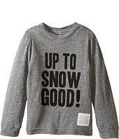 The Original Retro Brand Kids - Up To Snow Good Long Sleeve Tri-Blend Tee (Toddler)