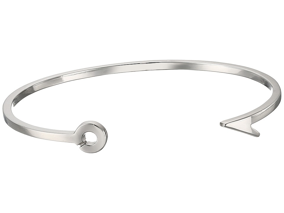 Miansai - Thin Fish Hook Cuff Bracelet (Polished Silver) ...