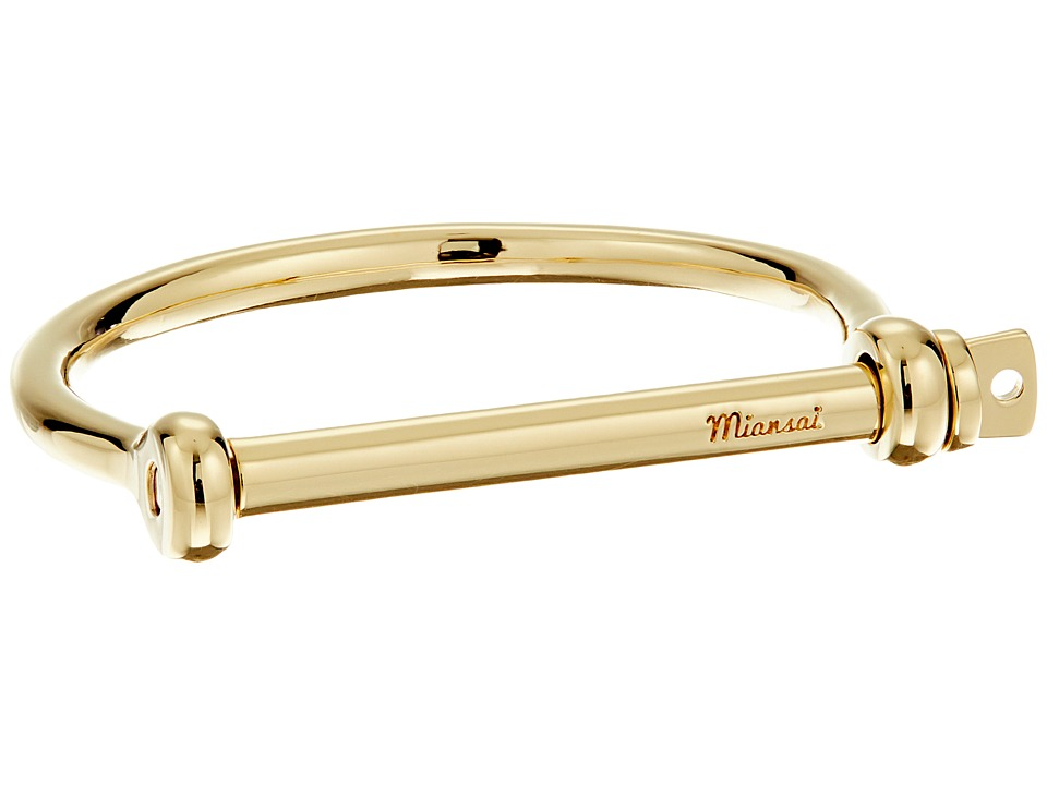 Miansai - Screw Cuff Bracelet (Polished Gold) Bracelet