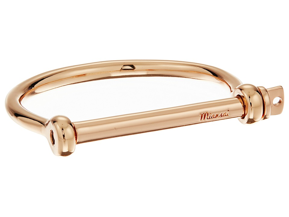 Miansai - Screw Cuff Bracelet (Polished Rose Gold) Bracelet