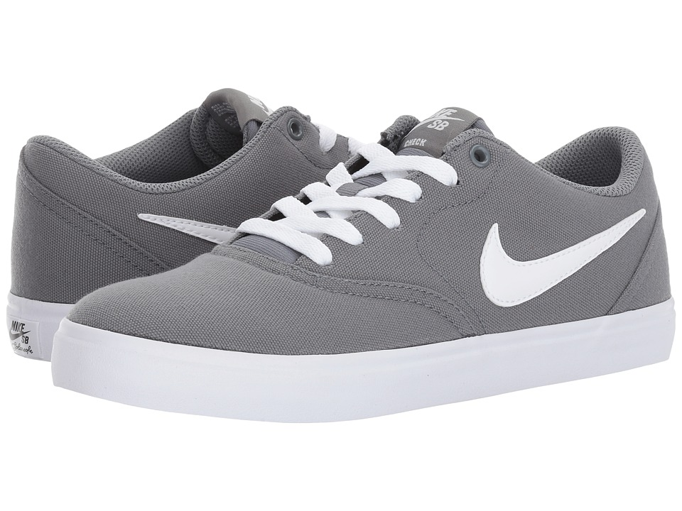 Nike SB Check SS Canvas (Cool Grey/White/Pure Platinum) Women's Skate Shoes