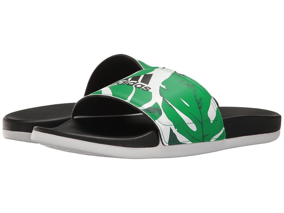 adidas Adilette Cloudfoam Ultra Armad (Footwear White/Core Black/Green) Women
