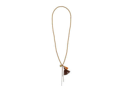 Chan Luu 34 Sequin Necklace with Tassle - Sand Mix