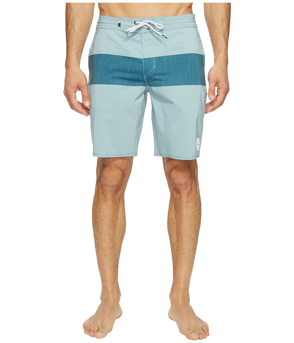 Quiksilver Panel Blocked 19 Beach Shorts (Stone Blue) Men