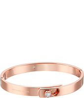 Michael Kors - CZ Hearts Hinged Bangle Bracelet