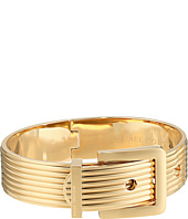 Michael Kors - Heritage Ridged Texture Wide Ridged Buckle Hinged Bangle Bracelet
