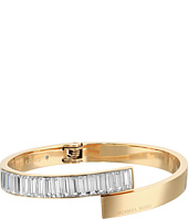 Michael Kors - Modern Baguette Gold and Crystal Bypass Center-Back Hinge Bracelet