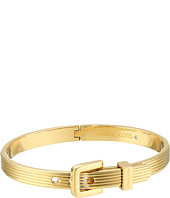 Michael Kors - Heritage Ridged Texture Skinny Ridged Buckle Hinged Bangle Bracelet