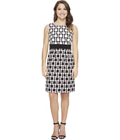 Tahari by ASL Petite - Petite Printed Jacquard Sheath Dress