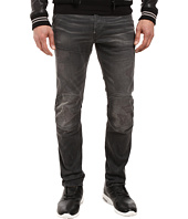 G-Star - 5620 3D Slim in Ding Grey Stretch Denim Medium Aged Restored 92