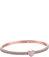 Michael Kors - Carved Hearts Rose Quartz Pavé Crystal Bracelet
