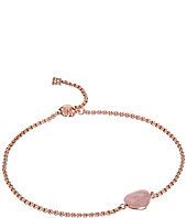 Michael Kors - Carved Hearts Rose Quartz Slider Bracelet