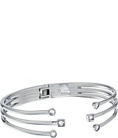 Michael Kors - Mixed Shape CZ Open Cuff Bracelet with Hinge-Back