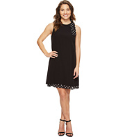 Tahari by ASL Petite - Petite Bow Shoulder Polka Dot Shift Dress