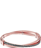 Michael Kors - Color Rush Hematite Pavé Crisscross Hinged Bangle Bracelet