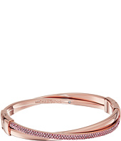Michael Kors - Color Rush Light Rose Pavé Crisscross Hinged Bangle Bracelet