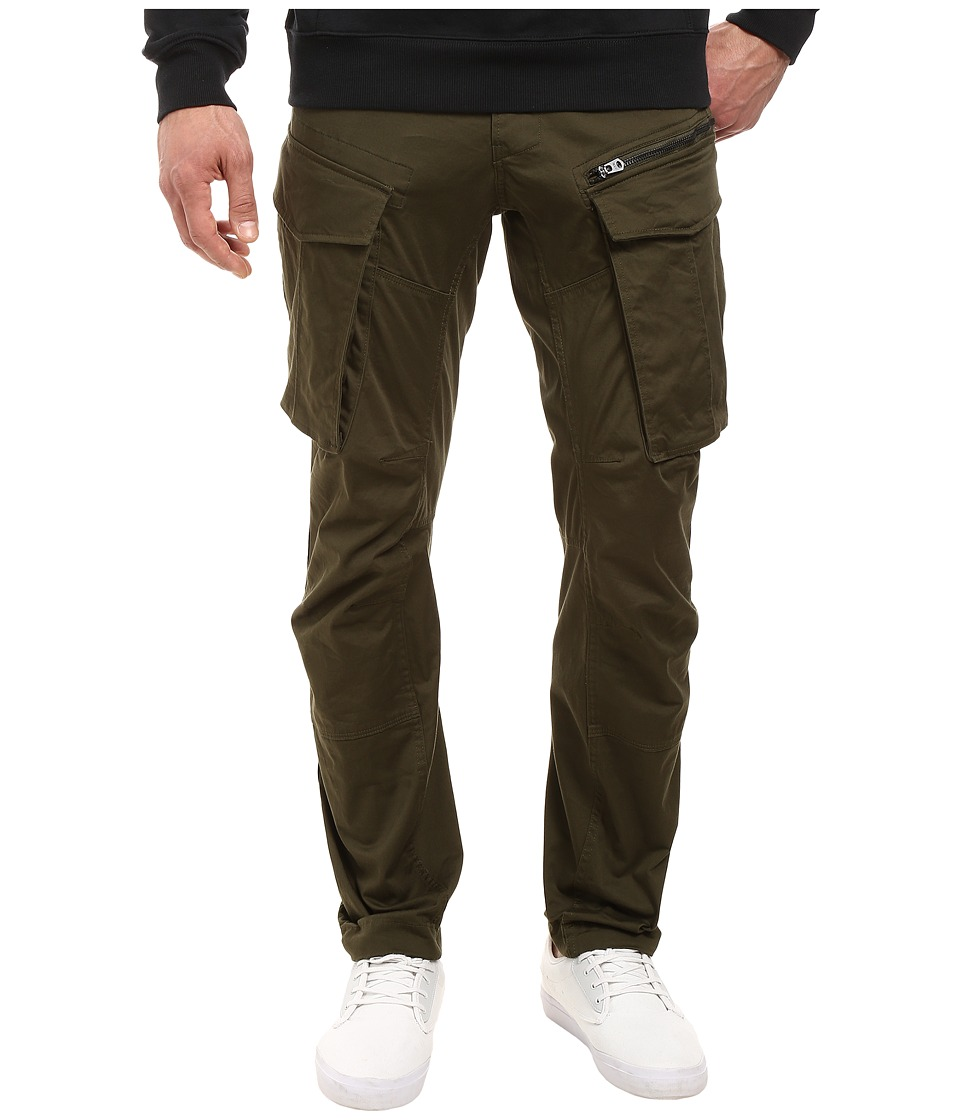 G-Star - Rovic Zip 3D Tapered Jeans in Premium Micro Stretch Twill Dark Bronze Green