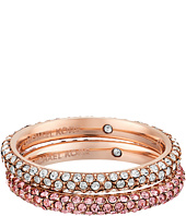 Michael Kors - Color Rush Light Rose Pavé Stacking Rings Set