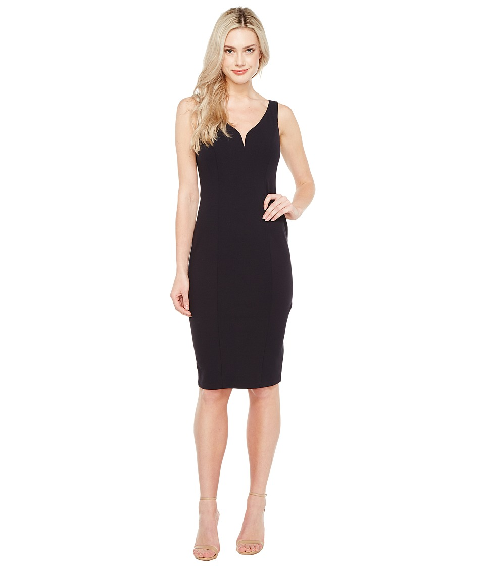 Donna Morgan - Sleeveless Stretch Crepe Bodycon Dress (Marine Navy) Womens Dress