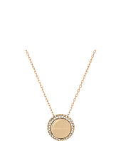 Michael Kors - Logo Pavé Disc Pendant Necklace