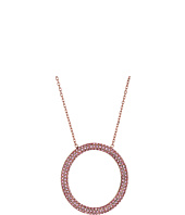 Michael Kors - Color Rush Light Rose Pavé Open Circle Pendant Necklace