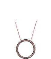 Michael Kors - Color Rush Hematite Pavé Open Circle Pendant Necklace