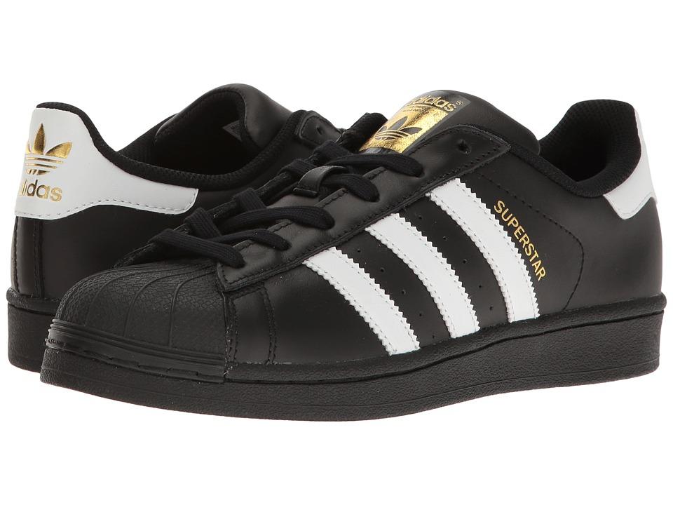 Adidas Originals - Superstar (Core Black/Footwear White/Gold Metallic) Women's Tennis Shoes