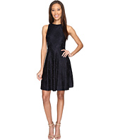 Donna Morgan - Sleeveless Chevron Lace Fit and Flare with Full Skirt