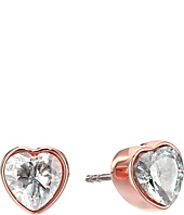 Michael Kors - CZ Hearts Stud Earrings