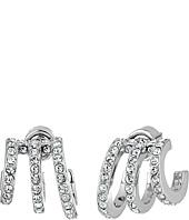 Michael Kors - Modern Baguette Pavé Open Work Huggie Earrings