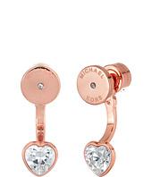 Michael Kors - CZ Hearts Front-Back Earrings