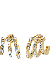 Michael Kors - Modern Baguette Pavé Open Work Huggie Earrings