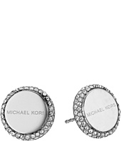 Michael Kors - Logo Pavé Disc Stud Earrings