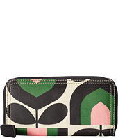Orla Kiely - Matt Laminated Stripe Tulip Print Big Zip Wallet