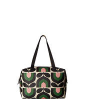 Orla Kiely - Matt Laminated Stripe Tulip Print Zip Shopper