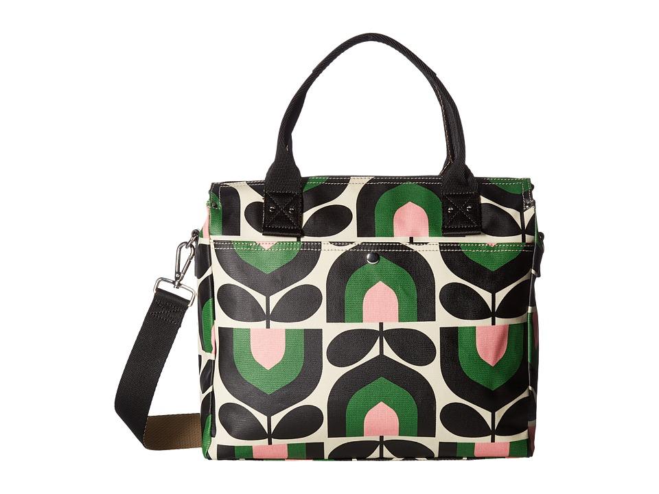 Orla Kiely Matt Laminated Stripe Tulip Print Zip Messenger (Spring) Messenger Bags