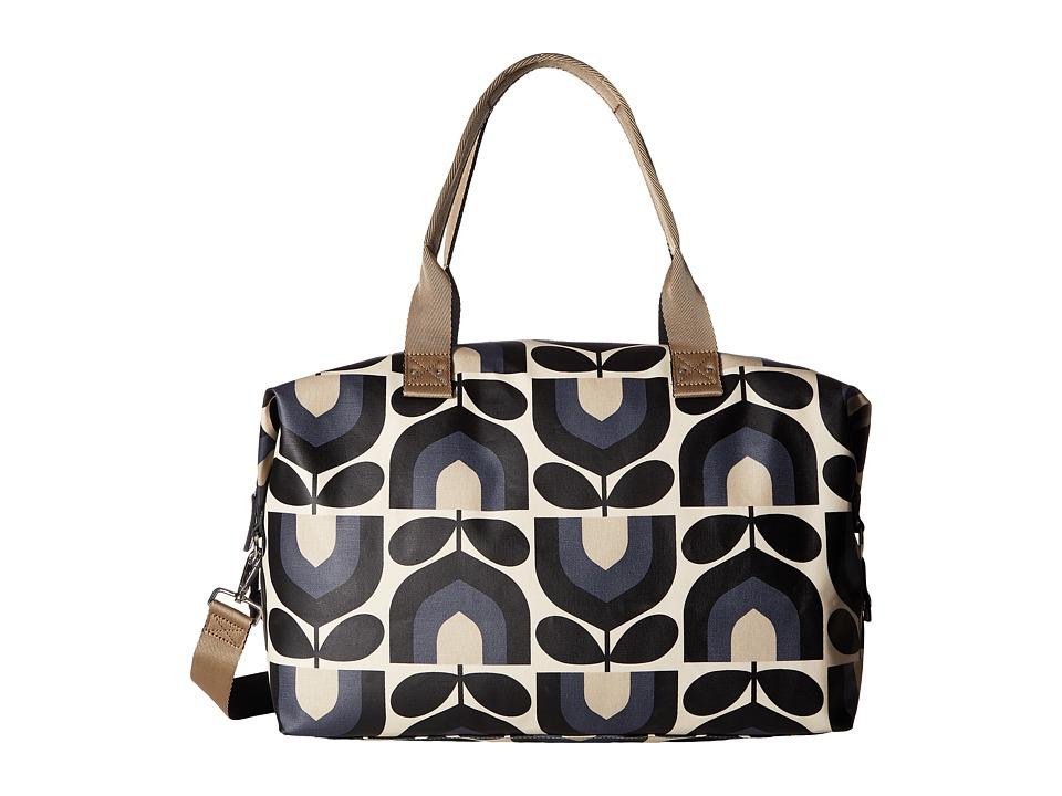 Orla Kiely Matt Laminated Stripe Tulip Print Zip Holdall (Dusk) Duffel Bags