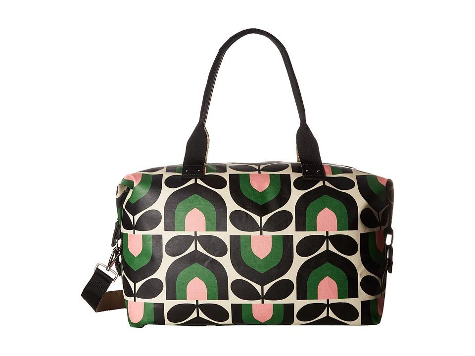 Orla Kiely Matt Laminated Stripe Tulip Print Zip Holdall (Spring) Duffel Bags