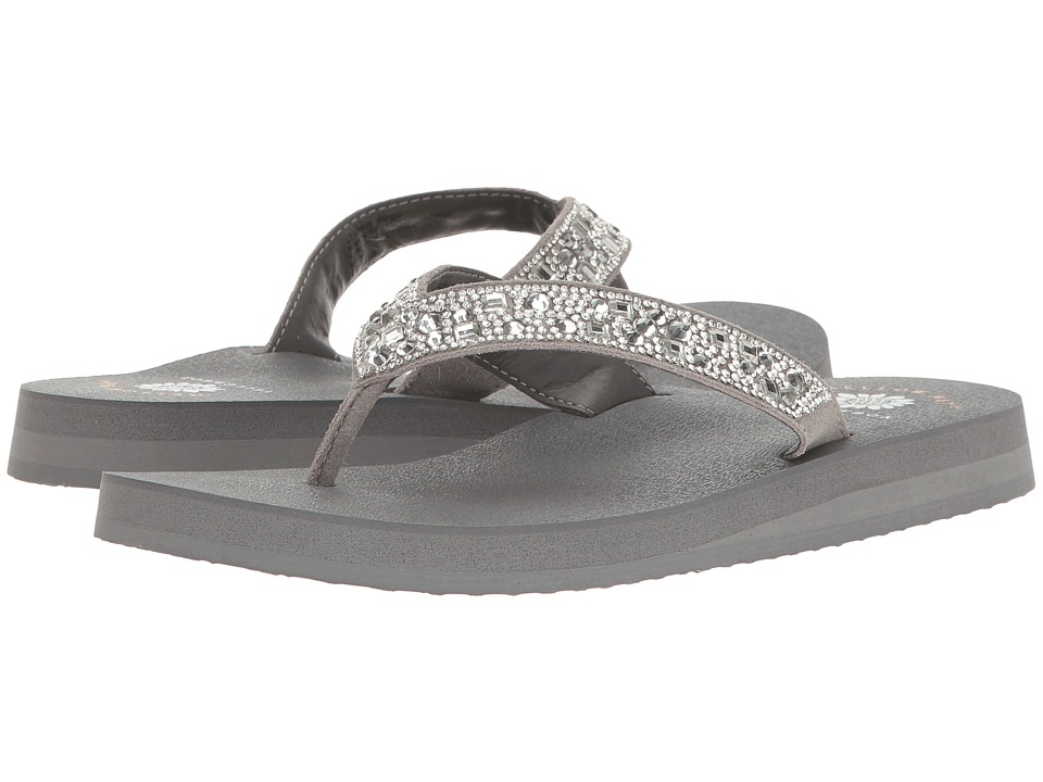 Yellow Box Orchid (Gray) Sandals